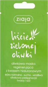 Ziaja Liście Zielonej Oliwki Oliwkowa Maska Regenerująca Z Kwasem Hialuronowym 7 Ml