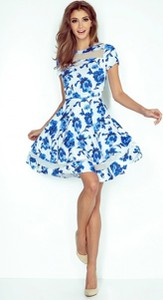 Sukienka noshame z tiulu z okrągłym dekoltem trapezowa