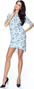 Niebieska sukienka Ptakmoda.com w stylu casual mini