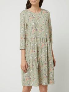 Miętowa sukienka Montego mini z okrągłym dekoltem