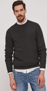 Czarny sweter Selected z okrągłym dekoltem w stylu casual