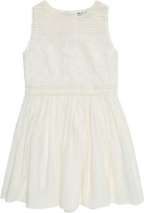 Sukienka POLO RALPH LAUREN mini z tkaniny z okrągłym dekoltem