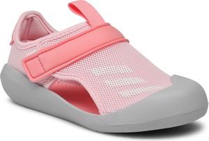Różowe buty dziecięce letnie Adidas dla dziewczynek