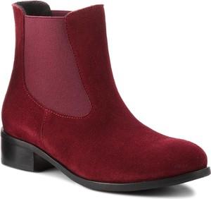 Czerwone botki Baldaccini w stylu casual na obcasie