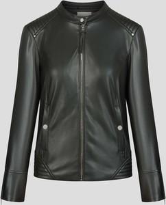 Czarna kurtka ORSAY krótka w rockowym stylu ze skóry ekologicznej
