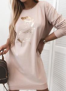 Sukienka Sandbella mini z okrągłym dekoltem
