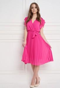 Sukienka Ella Boutique midi z dekoltem w kształcie litery v