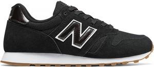 Czarne buty sportowe New Balance sznurowane na koturnie