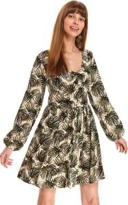 Sukienka Top Secret koszulowa z dekoltem w kształcie litery v mini