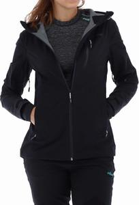 Czarna kurtka Viking w sportowym stylu z tkaniny krótka