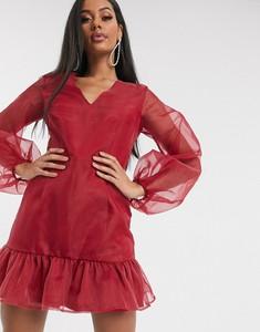 Sukienka Missguided z długim rękawem