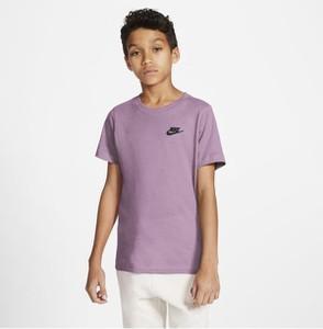 Fioletowa koszulka dziecięca Nike z krótkim rękawem dla chłopców