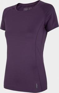 Fioletowy t-shirt Outhorn z krótkim rękawem w sportowym stylu