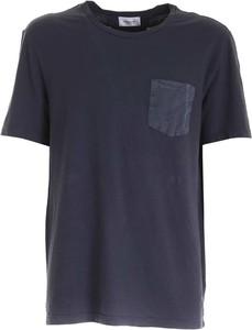 Niebieski t-shirt Dondup w stylu casual z krótkim rękawem
