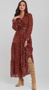 Sukienka Renee koszulowa w stylu casual z dekoltem w kształcie litery v