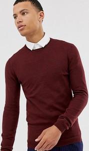 Czerwona bluza Asos z wełny