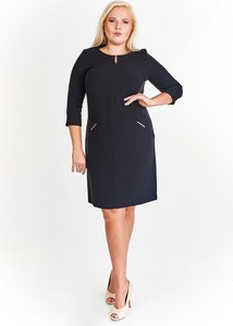 Sukienka Fokus w stylu klasycznym z tkaniny