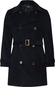 Czarny płaszcz męski Magic Fox X About You w stylu casual z tkaniny