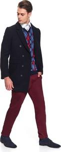 Granatowy płaszcz męski Top Secret