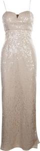 Sukienka Aidan Mattox Vintage maxi z dekoltem w kształcie litery v na ramiączkach