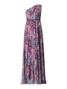 Różowa sukienka Troyden Collection z szyfonu