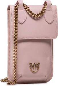 Różowa torebka Pinko na ramię mała matowa
