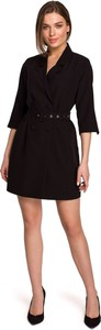 Sukienka Style mini z tkaniny z długim rękawem