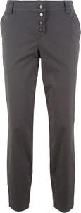 Granatowe spodnie bonprix bpc bonprix collection w stylu casual