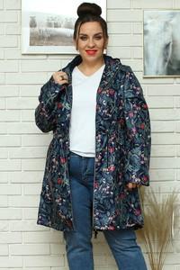 Kurtka KARKO w stylu casual z tkaniny długa