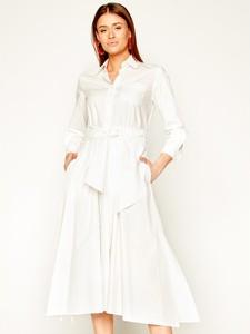 Sukienka MaxMara maxi koszulowa z długim rękawem