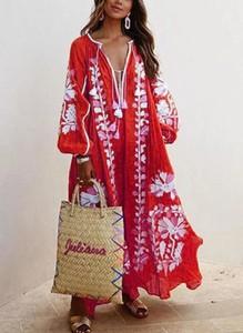 Sukienka Sandbella maxi z lnu