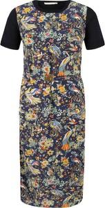 Sukienka Tory Burch prosta z okrągłym dekoltem midi