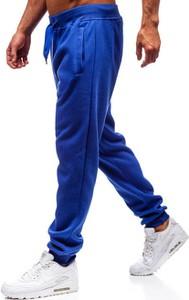 Niebieskie spodnie sportowe Denley