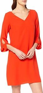 Sukienka amazon.de prosta z dekoltem w kształcie litery v z długim rękawem