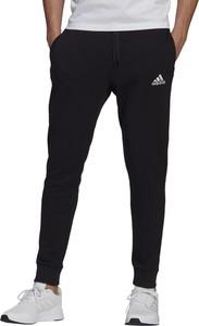 Czarne spodnie sportowe Adidas w sportowym stylu z bawełny