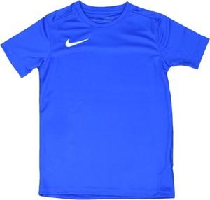 Niebieska koszulka dziecięca Nike z krótkim rękawem dla chłopców