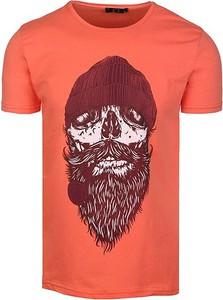 T-shirt Neidio z bawełny w młodzieżowym stylu