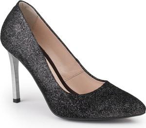 491c6122a3e7 Czarne szpilki Marco Shoes na szpilce w stylu klasycznym na wysokim obcasie