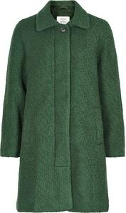 Zielony płaszcz Numph w stylu casual z wełny