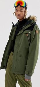 Zielona kurtka Quiksilver w młodzieżowym stylu
