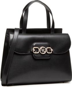Czarna torebka Guess do ręki matowa średnia