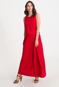 Sukienka Studio Erer w stylu boho maxi bez rękawów