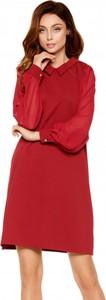 Czerwona sukienka Lemoniade z szyfonu mini z długim rękawem