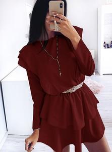 Sukienka Pakuten w stylu casual z długim rękawem