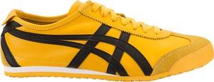 Żółte buty sportowe Onitsuka Tiger z płaską podeszwą