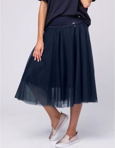 Niebieska spódnica Look made with love midi