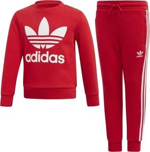 Czerwony dres dziecięcy Adidas Originals