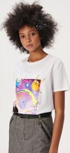 T-shirt Sinsay z krótkim rękawem z okrągłym dekoltem z nadrukiem