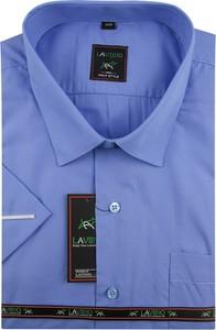 Niebieska koszula Laviino z bawełny