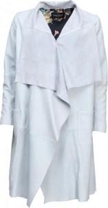 Niebieski płaszcz Onstage ze skóry